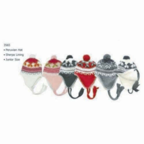 Junior Peruvian Hat Sherpa Lining - Case Pack 60 SKU-PAS893363