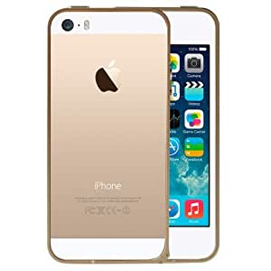 XKAYE iPhone 5S Case Protective Metal frame for iPhone 5S and iPhone 5 (GOLD)