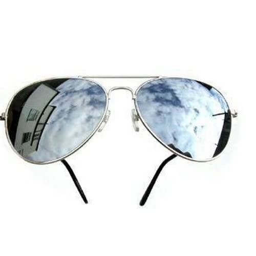 UNISEX (MENS WOMENS) MIRRORED AVIATOR SUNGLASSES