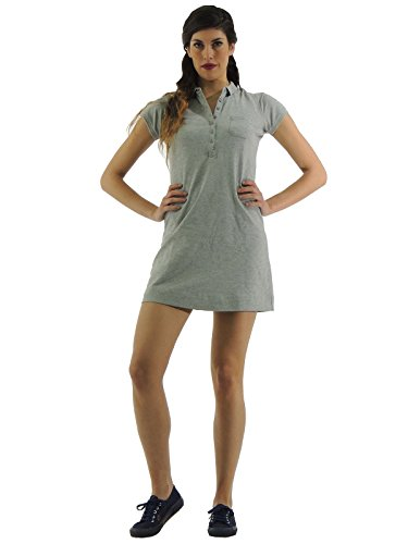 Sun68 mini abito donna maxi t-shirt polo grigio 14204 (XL)