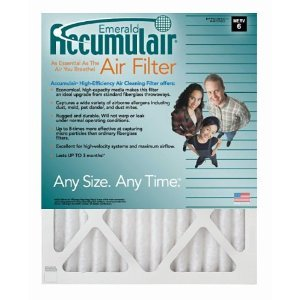 20x22x1 (Actual Size) Accumulair Emerald 1-Inch Filter (MERV 6) (6 Pack)