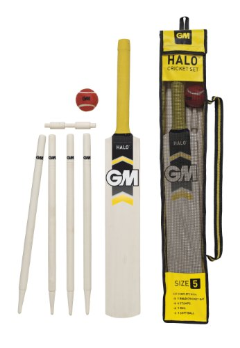 Gunn & Moore Boy's Halo Cricket Cricket Sets - White, Size 1