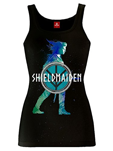 Vikings Shieldmaiden Top donna nero XXL