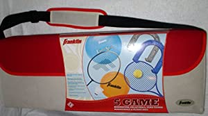 Franklin Sports 5 Game Set with Carry Bag: Badminton, Volleyball, Yard Tennis, Horseshoes, Flying Disc