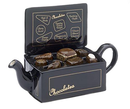 Carters-de-Suffolk-Taille-Full-Sizeteapot-Bote--chocolat-en-cramique-Noir