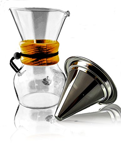 pour-over-coffee-dripper-glass-carafe-stainless-steel-reusable-mesh-filter-fits-all-chemex-makers-4-