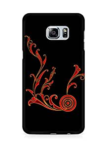 Amez designer printed 3d premium high quality back case cover for Samsung Galaxy S6 Edge Plus (Abstract Dark 11)