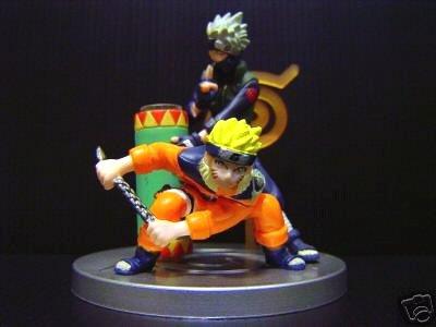Naruto Konoha Emaki Figure Naruto & Kakashi