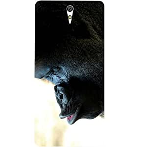 Casotec Gorilla Face Design Hard Back Case Cover for Sony Xperia C5 Ultra Dual