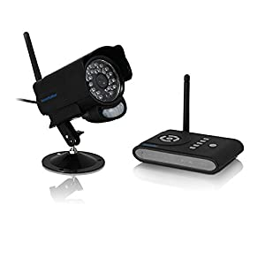 Securityman Digital Outdoor Wireless Camera System Kit with PIR Motion, 2-Way Audio, Night Vision and SD Digital Video Recorder (DigiAir-SD)