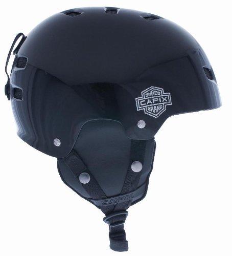 Capix Gambler Helmet for Ski/Snowboard - Gloss Black Large/Xlarge(58-60cm)