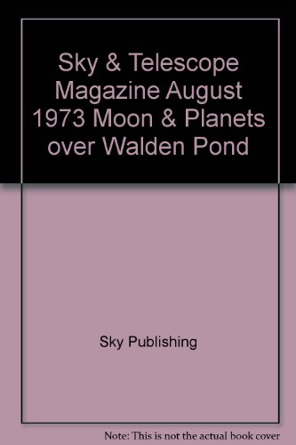Sky & Telescope Magazine August 1973 Moon & Planets Over Walden Pond