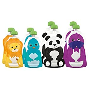 Squooshi Reusable Food Pouch (8 pack - assorted sizes)