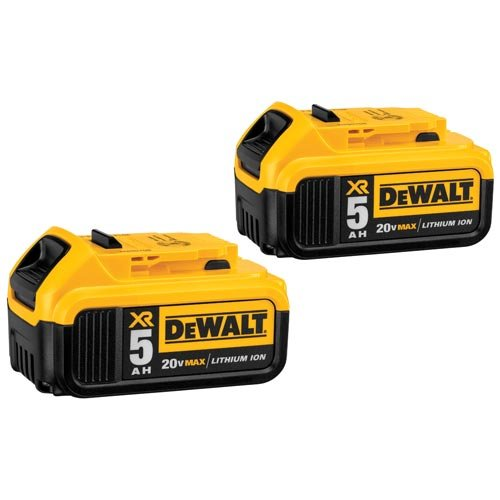 DEWALT DCB205-2 20V MAX XR 5.0Ah Lithium Ion Battery, 2-Pack (Dewalt 20v Max Drill compare prices)