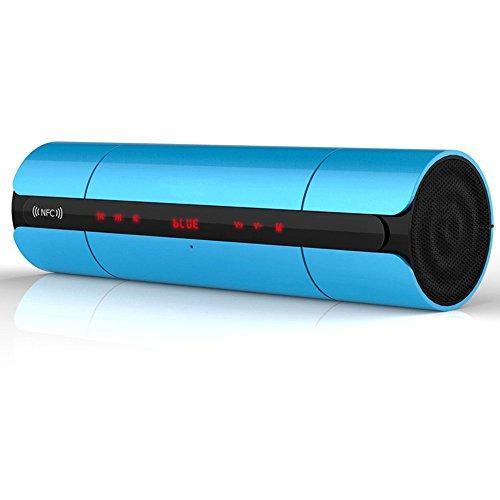 LEVIN Bluetooth スピーカー ワイヤレススピーカー タッチパネル操作 3Dサウンド NFC対応 (ブルー)