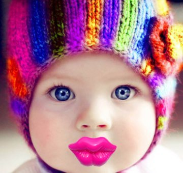 Kiss Big Lips Neon Pink Pacifier (P3DNP)