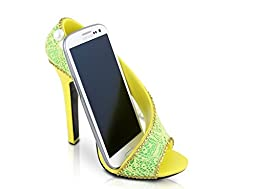 Mother\'s Day Gifts For Mom,Love\'s Gift, Birthday Gift, Cute Jacki Design Shoe Cell Phone Holder for Iphone 6 Plus, Samsung Galaxy S 5 Note 4 (Yellow)