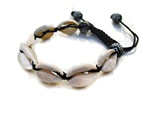 new choice bracelet shamballa coquillage cauri blanc bijoux. Black Bedroom Furniture Sets. Home Design Ideas