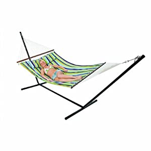 Stansport Double Cotton Hammock w stand by StanSport