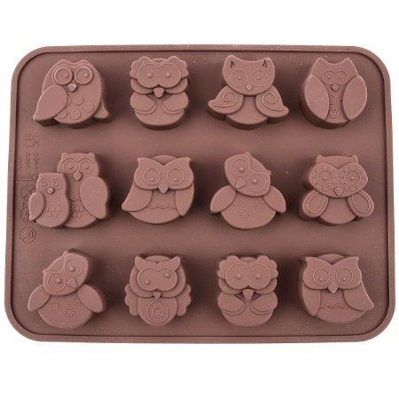 12-chouettes--Pain-en-Silicone--Gteau-Chocolat-Bonbon-Ptisserie-Craft-Moule-Silicone-moule