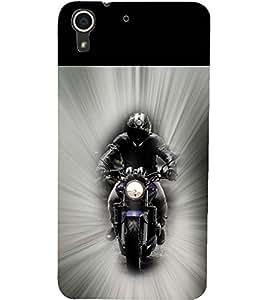 PrintDhaba BIKE RIDE D-6154 Back Case Cover for HTC DESIRE 728 (Multi-Coloured)