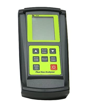 TPI 712C7 Combustion Efficiency Analyzer with Digital Clamp-On and Infrared Printer, Rechargeable Ni-MH Batteries, Backlit LCD Display, 14 to 122 Degree F