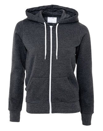 Dark grey zip up hoodie