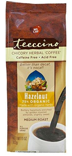 Teeccino Hazelnut Chicory Herbal Coffee Alternative, Acid Free, Caffeine Free,  11oz (Pack of 3) (Alternative Coffee compare prices)
