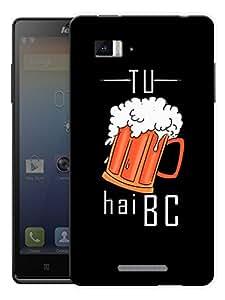 "Tu Beer Hai Bc - Quote Printed Designer Mobile Back Cover For ""Lenovo Vibe Z K910"" By Humor Gang (3D, Matte Finish, Premium Quality, Protective Snap On Slim Hard Phone Case, Multi Color)"