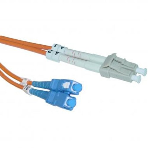 Micro Connectors, Inc. Lc/Sc Mm Duplex 62.5/125 5 Meter Fiber Optic Cable (Fbr-520-5M)