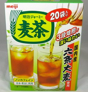 Amazon.com : Meiji roasted barley tea 20 bag in a box ...