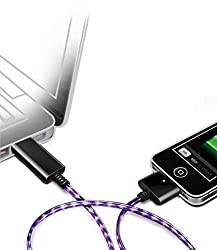 Mobilegear Flashing LED Light Charge & Data Sync USB Cable For iPhone 4/4g & other Apple Devices