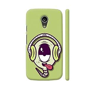 Colorpur Music Buff On Green Artwork On Motorola Moto G2 Cover (Designer Mobile Back Case)   Artist: Neeja Shah