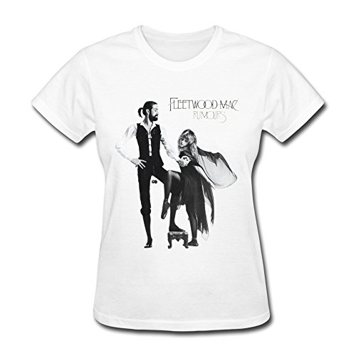 PASSION Women's Rumours Fleetwood Mac T-shirt White XXL (Fleetwood Mac Shirt Xxl compare prices)