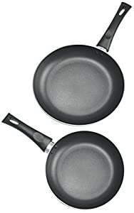 Kitchen Pro by WearEver Nonstick Fry Pans, 8 and 10-Inch, 2-Piece Set, Black