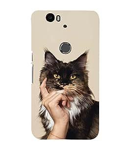 EPICCASE cat case Mobile Back Case Cover For Huawei Nexus 6P (Designer Case)