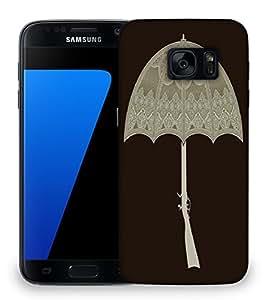 Snoogg umbrella gun 2495 Designer Protective Back Case Cover For Samsung Galaxy S7