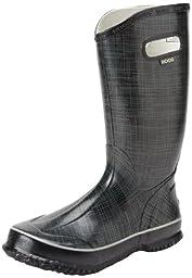 Bogs Women\'s Rainboots Linen Boot,Black,12 M US