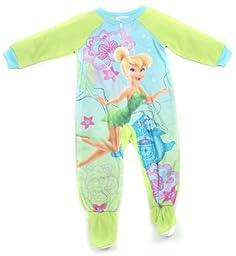 Disney Princess Tinkerbell Toddler Girls Blanket Sleeper (4T)