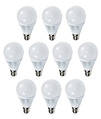 9W White LED Bulb (Pack of 10)