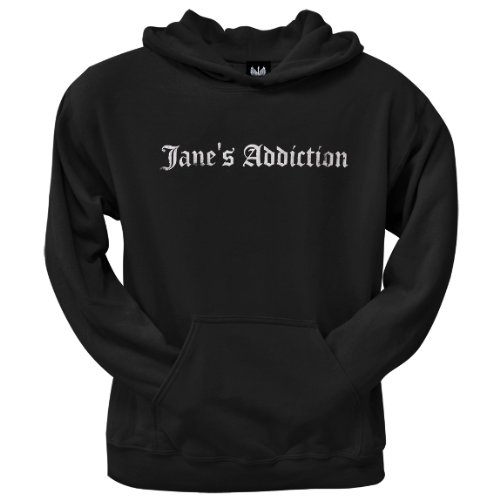 Old Glory Mens Janes Addiction - Old English Logo Pullover Hoodie - Medium Black