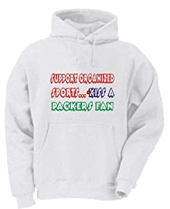 Support Organized Sports Kiss A PACKERS Fan Youth Hooded Sweatshirt (for Kids) in Various Colors