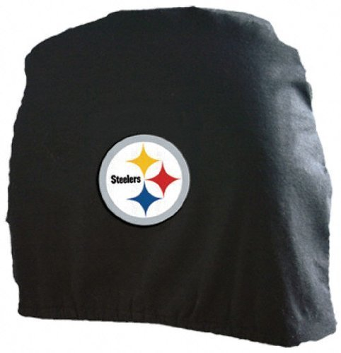 Pittsburgh Steelers Headrest Covers (2 Pack) Covers (Steeler Tire Covers compare prices)