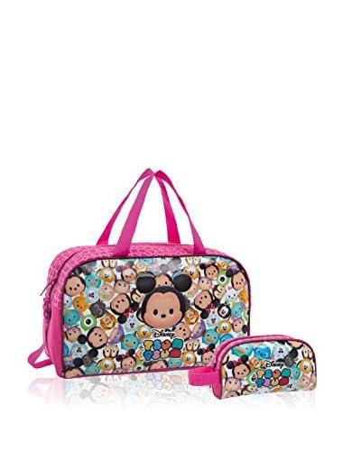 Disney Borsa Da Viaggio + Nécessaire Tsum Tsum Pink