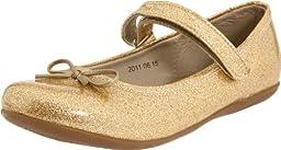 Kid Express Josie Mary Jane (Toddler/Little Kid/Big Kid),Gold Glitter Patent,25 EU (9 M US Toddler)
