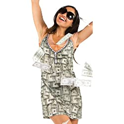 Faux Real PhotoRealistic Halloween Costume Money Dress Ladies T-Shirt