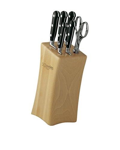3 Claveles Juego Zen France 5 Cuchillos + Tijera 3C