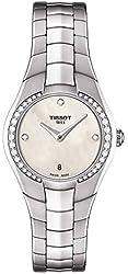 Tissot T-Round Cream Dial Stainless Steel Ladies Watch T0960096111600