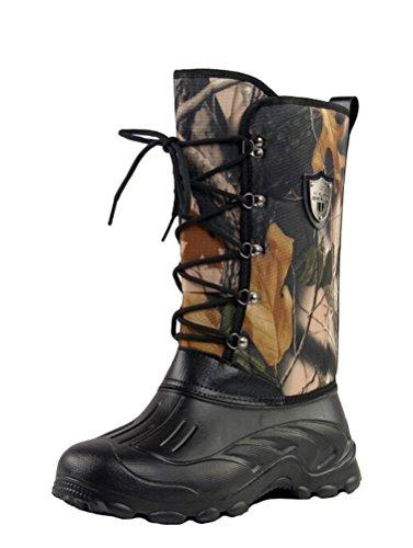 Brinny Générique Homme haut-dessus Chaussures Bottes de Neige Étanche Bottes de Pêche à Lacets Camouflage 6 Tailles