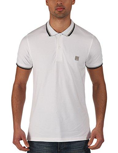 Bench - Polo Shirt Competitor B, Maglia a maniche lunghe Uomo, Bianco (Bright White), X-Large (Taglia Produttore: X-Large)